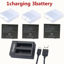 For Xiaomi Mijia Battery mini camcorders Rechargeable Battery+Dual Batteries Charger Charging Seat For Mijia Camera Accessory