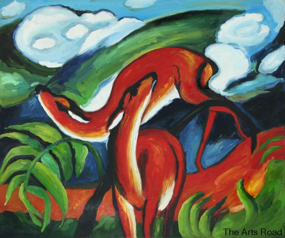 Red Deer Franz Marc Paintings