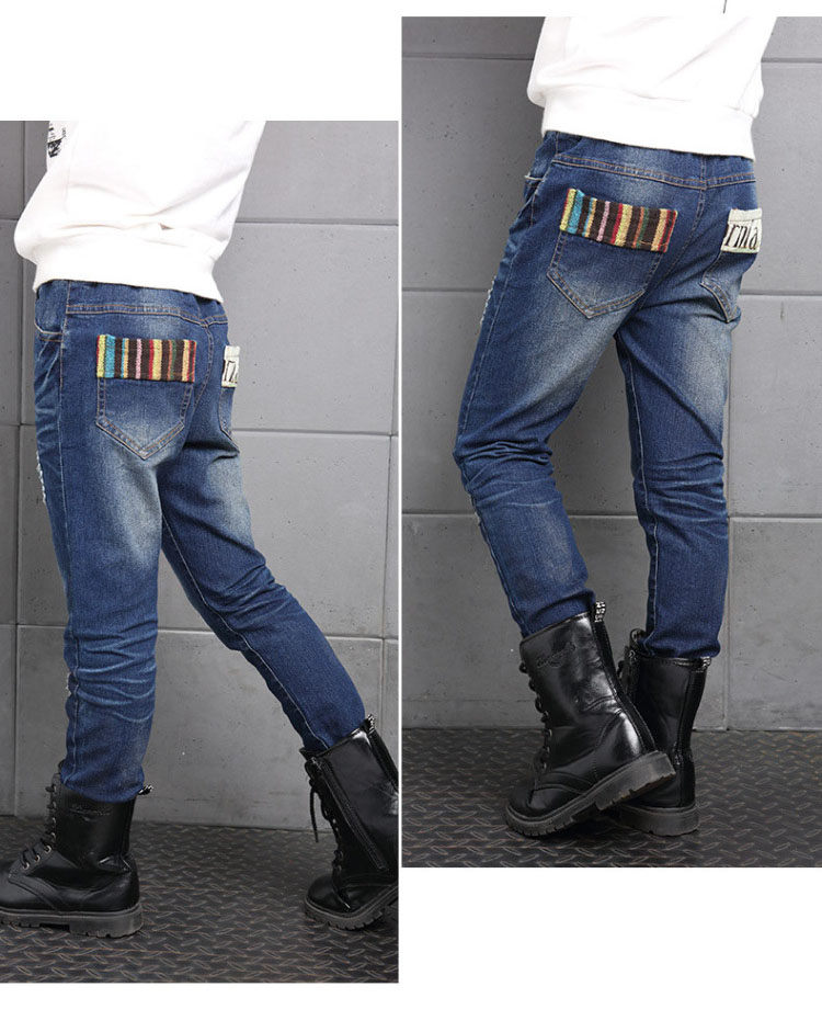 new 2017 boys ripped skinny jeans boys pants clothes teenage big little boy kids jeans for teenagers boys children deninm pants trousers clothing  (2)