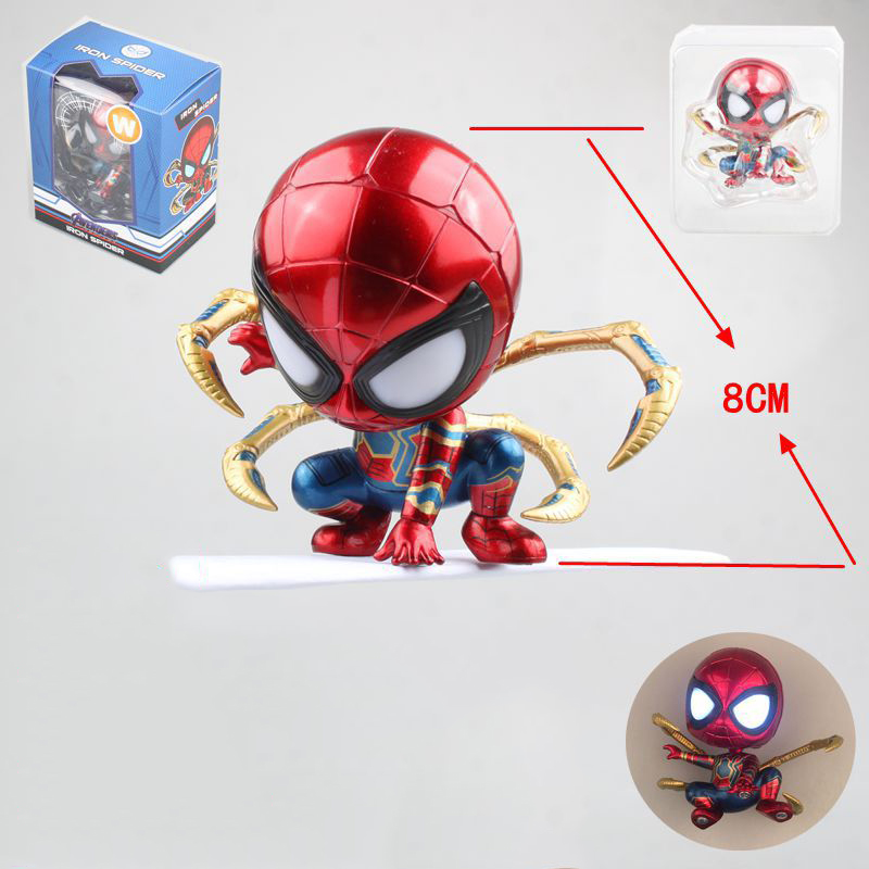 anime-font-b-marvel-b-font-spider-man-homecoming-the-spiderman-q-version-mini-with-led-light-pvc-figures-toys-car-home-decoration-doll-gift