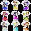 2017 Nuevo Verano Al Por Mayor 2017 de moda kawaii Del Animado camiseta otaku love live Nishikino Maki MINAMI KOTORI HOSHIZ ropa