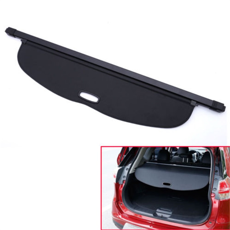 BBQ@FUKA New Auto1pc Trunk Shade BLACK Cargo Cover Trim ABS Fit For Nissan Rogue sv X-Trail T32 2014-2017 Car Styling car rear trunk security shield cargo cover for volkswagen vw tiguan 2016 2017 2018 high qualit black beige auto accessories