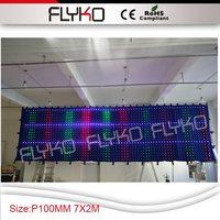 P10 2x7 м Экран ткань интерактивное пол украшения