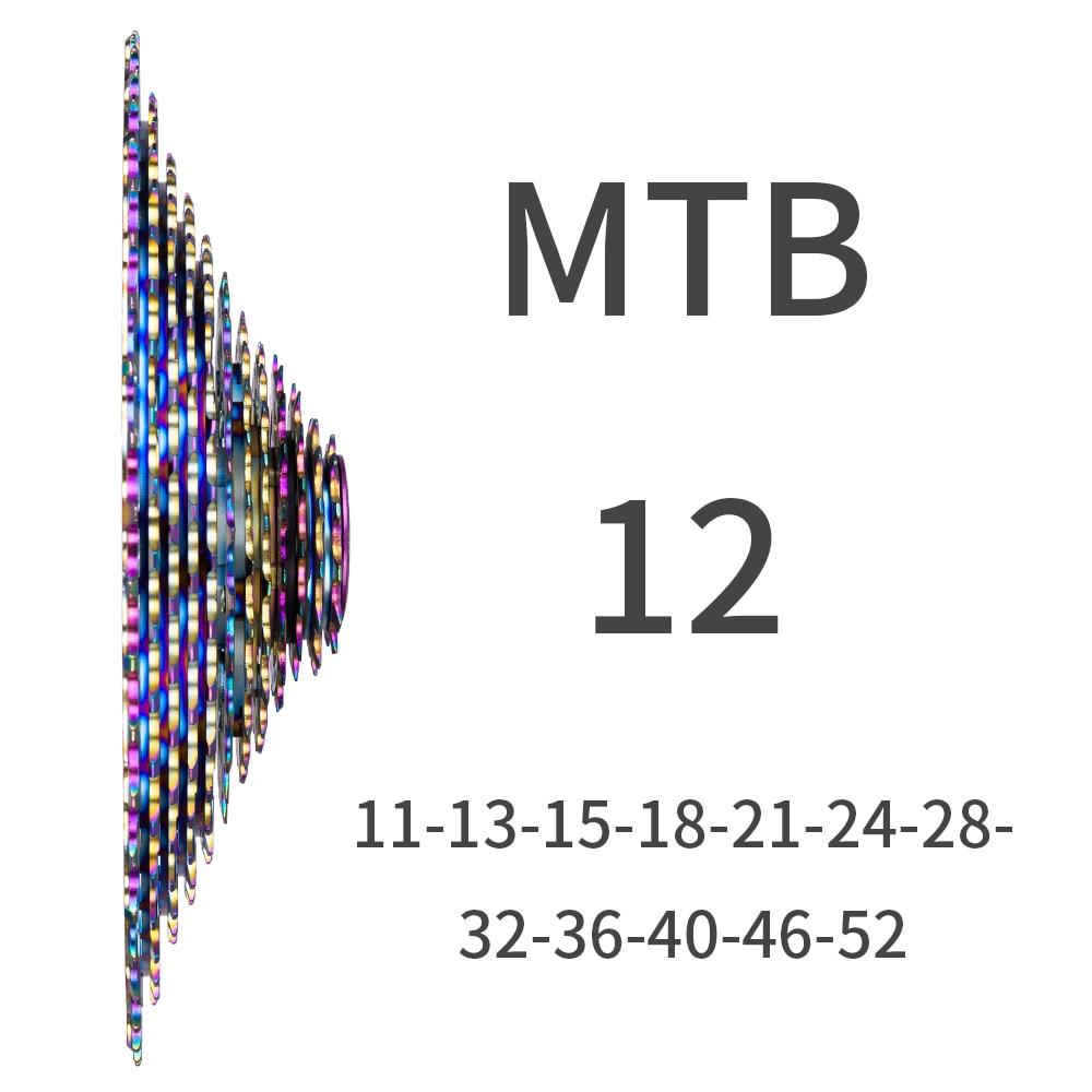 ZTTO-12-Speed-Rainbow-Cassette-11-52T-SLR2-12s-MTB-12Speed-UltraLight-K7-12V-413g-Freewheel1