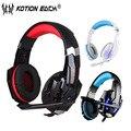Kotion each g9000 3.5mm jogo ps4 gaming headset fone de ouvido com fio com microfone led para computador portátil tablet pc telefones celulares