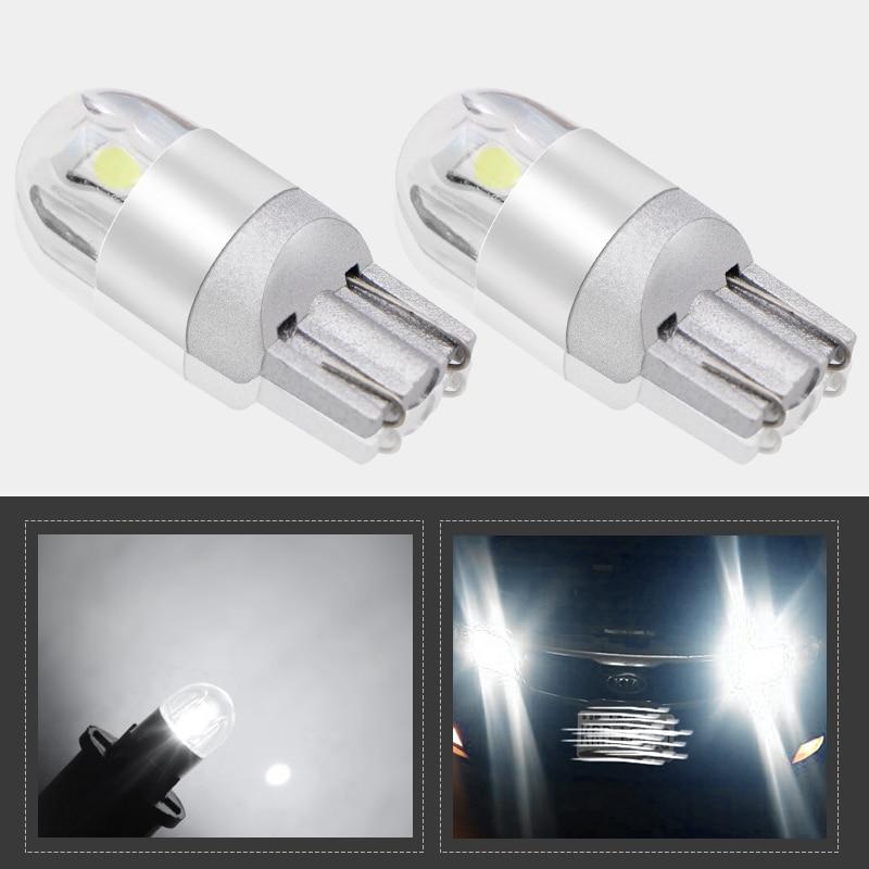 2pcs Signal Lamp 3030 T10 Led Car Bulb W5W Led T10 Led Lamps For Cars White 5W5 Clearance Backup Reverse Light Car-styling 3157 3156 80w 900lm 16 led white car brake light steering backup lamp 12 24v