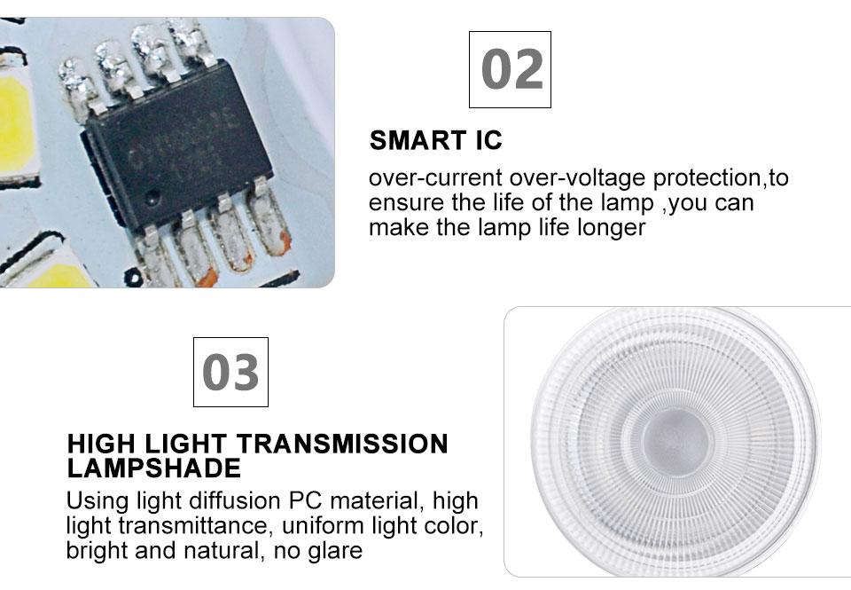 GU5.3 GU10 MR16 220V Lampada LED Spotlight 4W 5W 6W 7W 8W LED Lamp Light LED Bulb Table Downlight Ceiling Light Warm White Lamp (10)