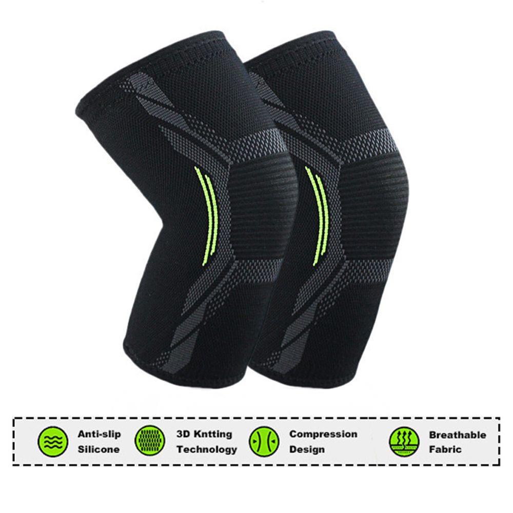 1 Pc Nylon Fitness Elastic Compression Knee Pads Breathable Sports Protector Bandage Support Brace Gym Running Workout