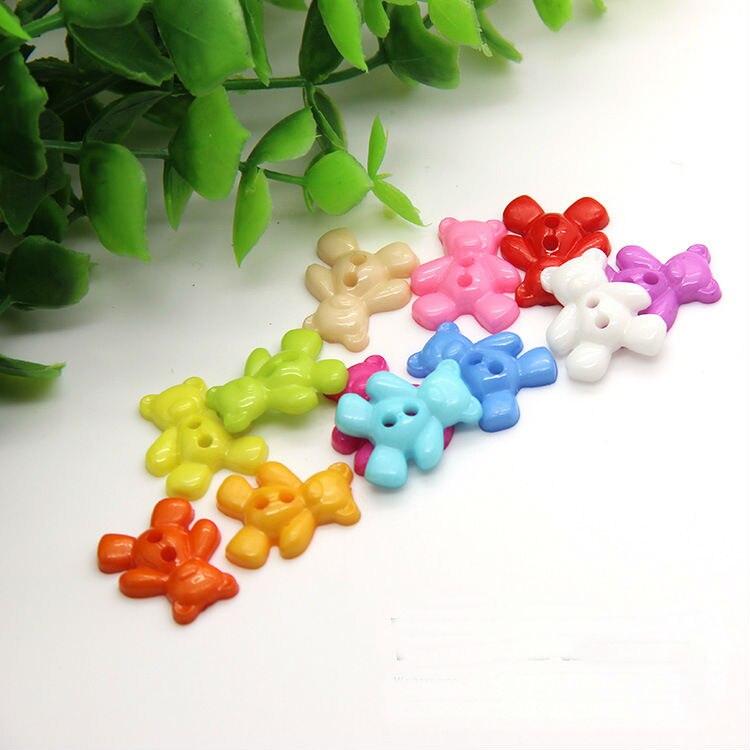 A18 DIYs eyes bear children buckle button shirt colorful mix creative button sweater accessories clothing set buttons mixed