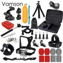 Vamson for Gopro hero 5 accessories set for gopro kit mount for SJ4000 hero 4 3 2 1 Black for SJCAM M10 for SJ5000 case VS74