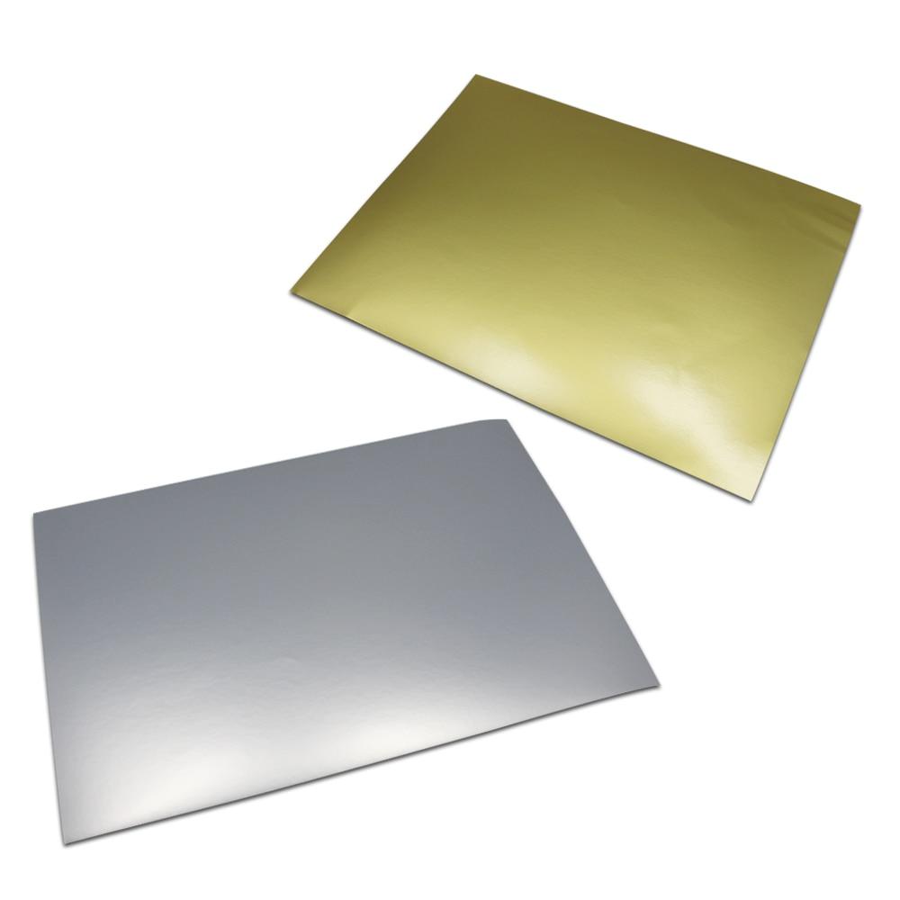 30 Sheet Lot A4 Self Adhesive Matte Silver Matte Gold