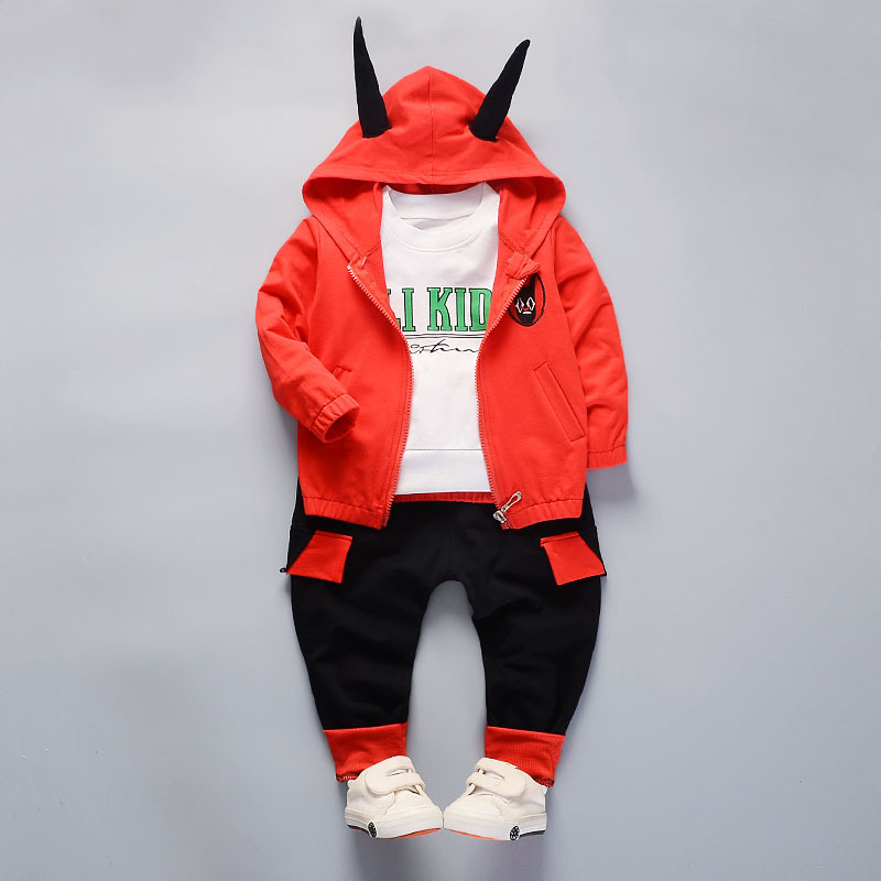 Winter baby boy clothes cotton tracksuits Little Devil Cosplay Jacket T-shirt+Pants toddler boy sport suits boys clothing sets casual kids hoodies clothes boys clothing 2pcs cotton shirt pants toddler boys clothing children suits baby boy clothes sets