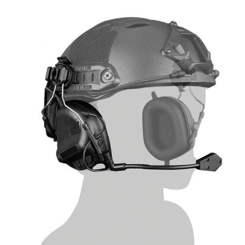 Tactical headset No noise Helmet headphones HD-10(OD Tan BK)