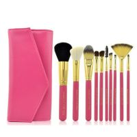10pcs Pro Makeup Brush Set Powder Foundation Eyeshadow Concealer Cosmetic Brushes Kit Blending Pencil Maquillage Pink