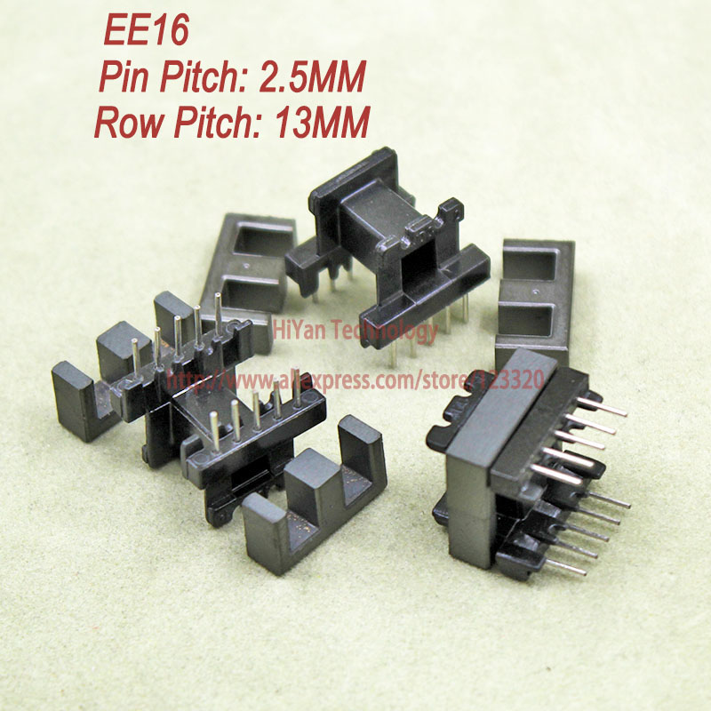 20sets/lot EE16 PC40 Ferrite Magnetic Core and 5 Pins + 5 Pins Side Entry Plastic Bobbin Customize Voltage Transformer 20sets lot ee16 pc40 ferrite magnetic core and 5 pins 5 pins side entry plastic bobbin customize voltage transformer