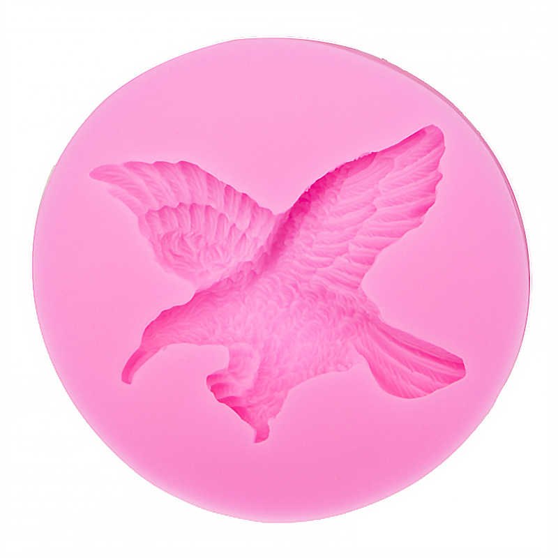 3D Reverse sugar molding eagle appear Food Grade silicone mould for kitchen polymer clay moulds cake decorating tools FT-0091