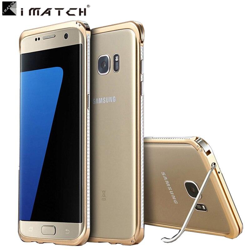imágenes para Para Samsung borde S7/S7 caja de metal de Aluminio del soporte caso de parachoques para Samsung Galaxy S7/S7 borde