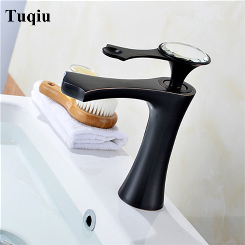 Basin Faucets Modern Gold Faucet Single Hole Bathroom Faucets Black Bathroom Sink Mixer Taps Diamond on