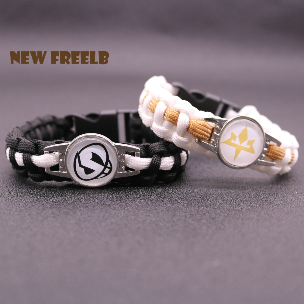 2017  Sun and Moon Team Skull Aether Foundation Paracord Bracelet Rope Chain Outdoor Fashion Jewelry for Women Men fans