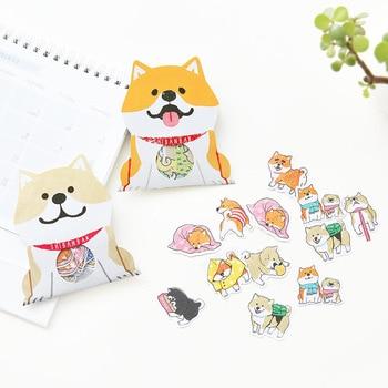 30 pcs/lot Cute Dog Shiba Inu Akita Husky Label Stickers Decorative Stationery Stickers Scrapbooking DIY Diary Album Stick Label Stationery Stickers