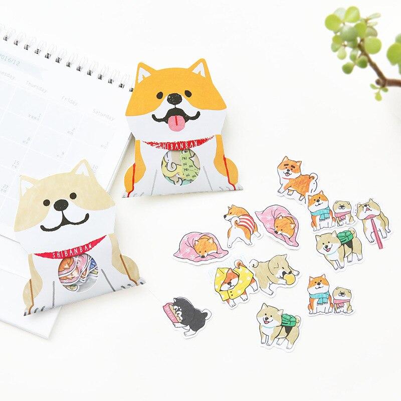 цены на 30 pcs/lot Memo Pads Puppy Kawaii Stickers Diary Planner Journal Sticky Notes Post it Diary Paper Scrapbooking Albums Photo Tag в интернет-магазинах