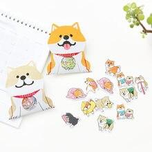 30 unidades/pacote cão bonito shiba inu akita husky etiqueta adesivos de papelaria decorativos scrapbooking diy diário álbum vara etiqueta