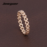 14 К Solid Gold связаны любовь сердца кольца для Для женщин Обручение обручальное кольцо anillos подарок для любителя fine jewelry RIP0123