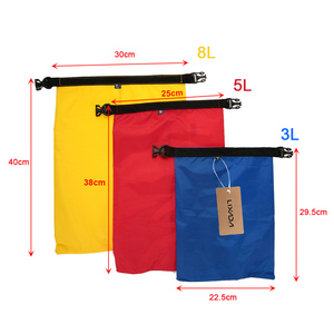 Image 4 - Lixada Pack of 3 Waterproof Bag 3L+5L+8L Outdoor Ultralight Dry Sacks for Camping Hiking Traveling