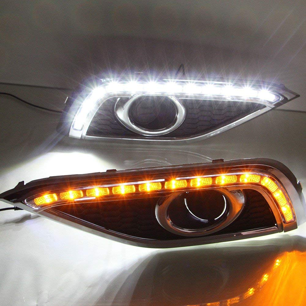 LED DRL Tagfahrlicht Nebel Lampe mit COB Angel Eye 12V Auto Led tagfahrlicht für Ford Edge 2015 2017 - 2