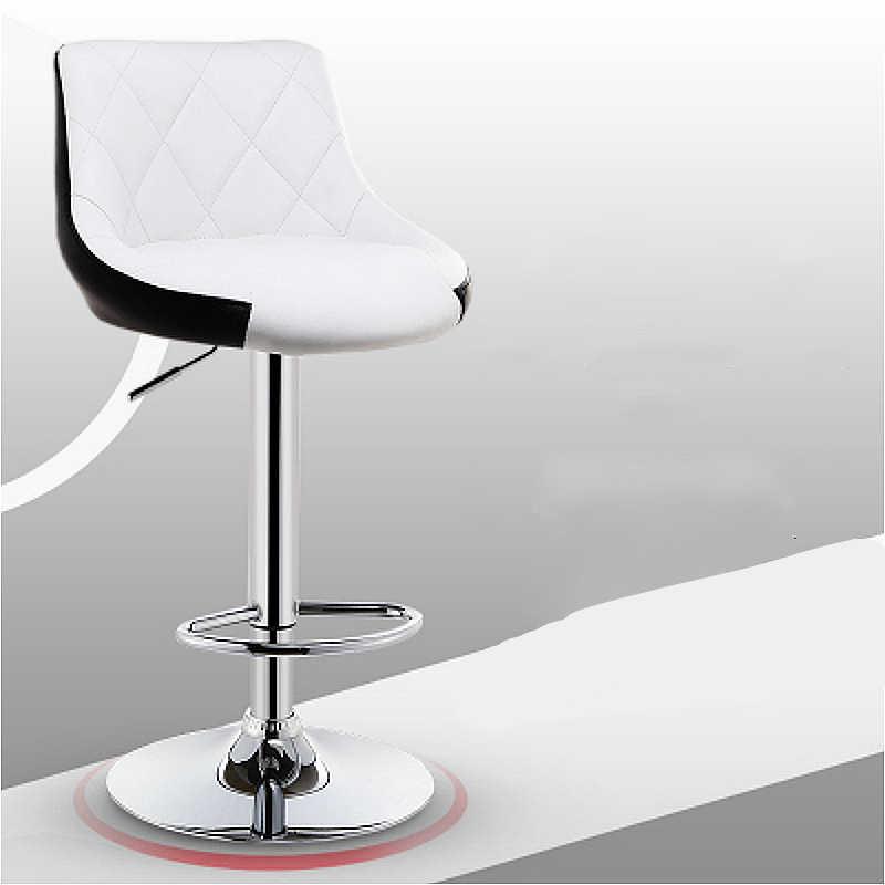 Современные ровные цилиндры стул поднят поворачивается Кофейня стул многофункциональный кассовый стул с подставкой для ног бытовой Досуг PU табурет