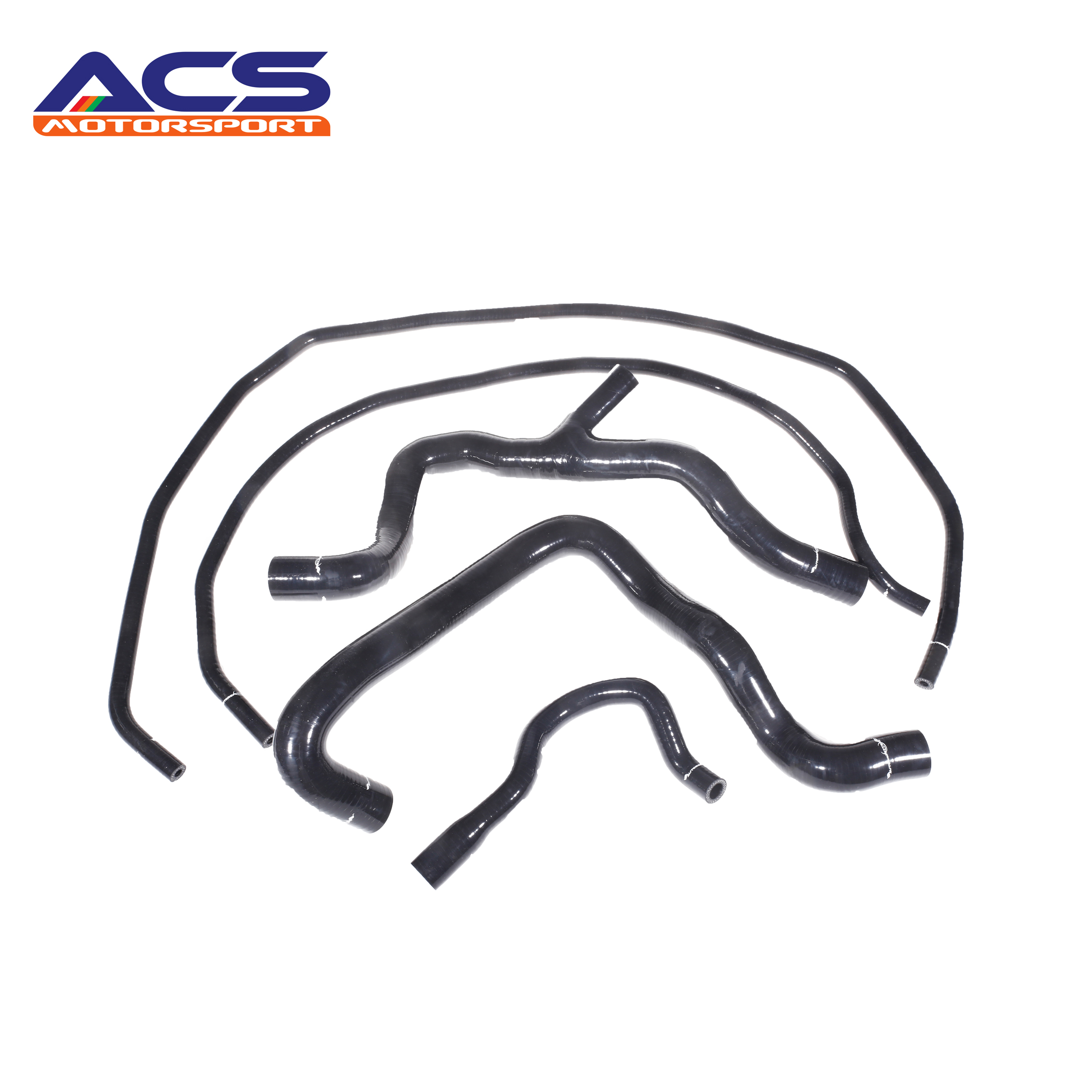 Universal Black Silicone Coolant Hose Kit For Ford ST 225 f7dz10884aa f8cz12a648b fit for ford thermostat housing water outlet coolant hose