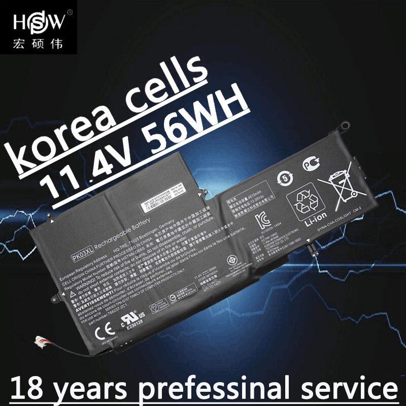 New Genuine 11.1v 56wh Battery for HP Spectre Pro X360 13 PK03XL HSTNN-DB6S 6789116-005 batteria akku
