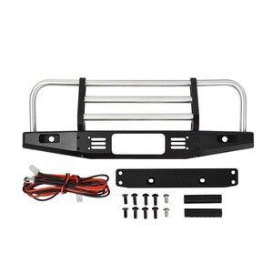 Image 3 - 1/10 RC Рок Гусеничный металлический передний бампер с светильник для осевого SCX10 90046 90047 Traxxas TRX 4 TRX4 Defender Bronco