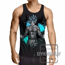 Dragon Ball Z Goku Super Saiyan Bodybuilding Fitness Men Tank Tops