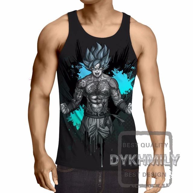 Dragon Ball Z Goku Super Saiyan Bodybuilding Fitness Men Tank Tops