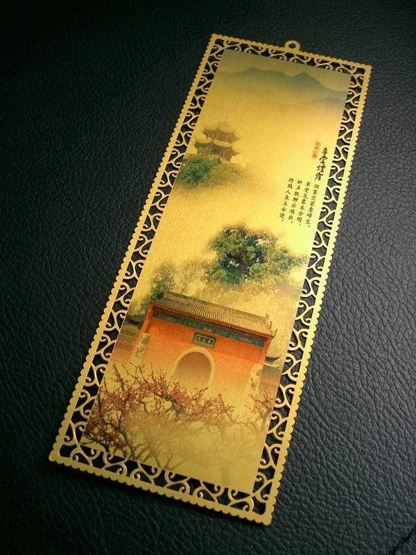FERR envío 100 Uds. Marcador de Metal de sublimación en blanco impresión DIY plata/oro papel de transferencia de tinta de sublimación