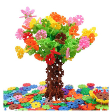 цены 300-1200Pcs Big Size Children Kid Baby Toys Multicolor Building Blocks Snowflake Creative Educational Construction Plastics Toys