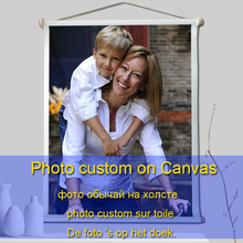 Custom Canvas Print Photo Painting Foto Personalizzate Eigen Op with Wood Hanger Handmade