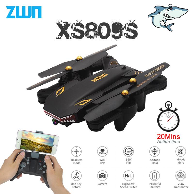VISUO XS809S Faltbare Selfie Drohne mit Weitwinkel 2MP HD Kamera WiFi FPV XS809HW Verbesserte RC Quadcopter Hubschrauber Mini Eders
