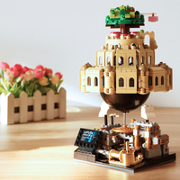 XINGBAO Genuine Building Block Compatible Lg city Castle In The Sky with Music Box Gift for Girl XB05001 D35