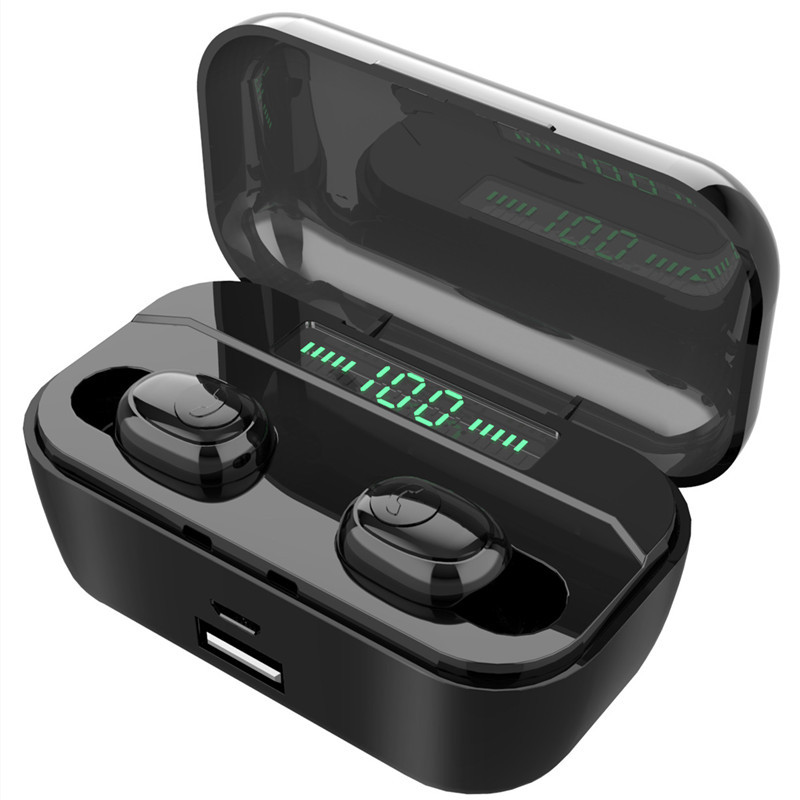 3500 mAh TWS Wireless Earphone Bluetooth 5.0 Earphones Led Power Display CVC8.0 DSP noise reduction Sport Headset Power bank