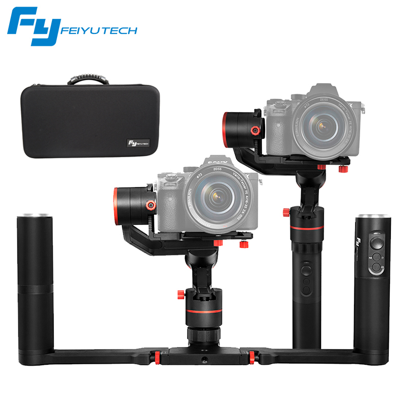 FeiyuTech a1000 3 Axis Handheld Gimbal Stabilizer for NIKON SONY CANON Mirrorle Dslr Camera Gopro Action Cam Smartphone wewow sport x1 handheld gimbal stabilizer 1 axis for gopro hreo 3 3 4 smartphone iphone 7 plus yi 4k sjcam aee action camera