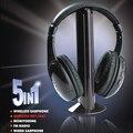 5 en 1 Reloj Tv Auriculares Inalámbricos Auriculares Inalámbricos Estéreo de Auriculares para MP3 PC TV FM iPod