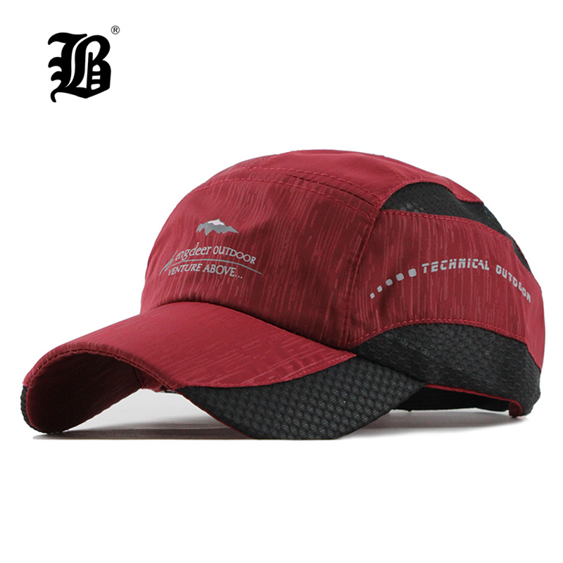 [FLB] Solid Summer   Cap   Branded   Baseball     Cap   Men Women Fitted Quick-Dry Dad   Cap   Bone Snapback Hats For Men Bones Masculino F125
