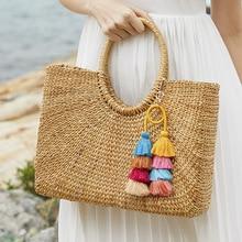 Fashion Charm Bohemia Women Colorful Layered Tassel Pendant Keychain Ring Bag Charms Jewelry Keyring Dropshipping