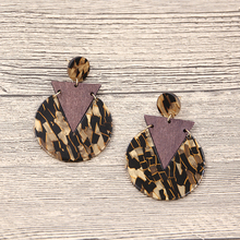 Vintage Resin Acrylic Earrings for Women Tortoiseshell Leopard Earring Triangle Round Wooden Earing Handmade Jewelry 2019