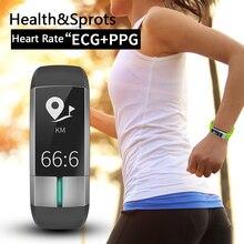 BLE4.0 IP67 Водонепроницаемый Спорт Smart Band Presión arterial сердечного ритма Фитнес трекер ppg ЭКГ Médicos Класс браслет здоровья