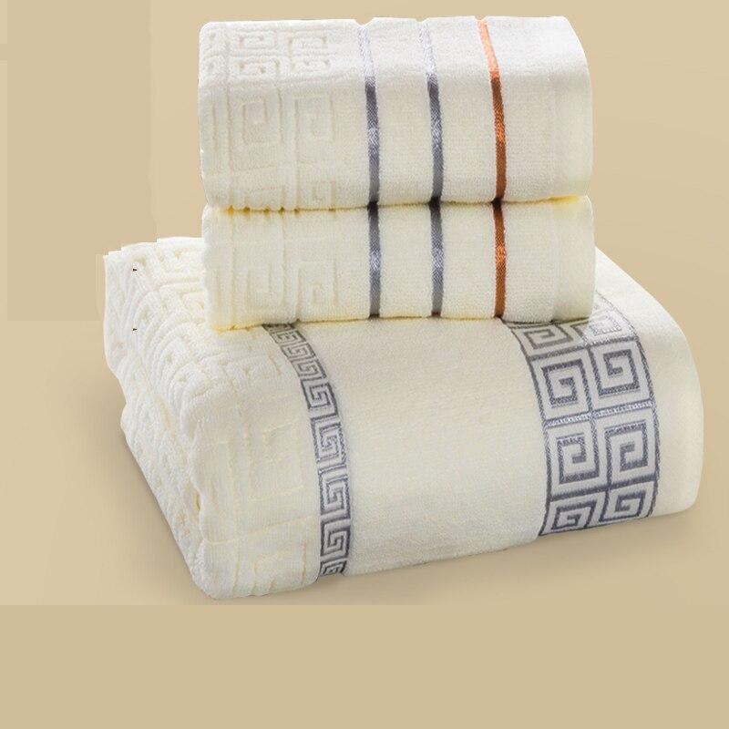 Coton luxe Serviette De bain ensembles pour adultes Serviette De Bains Coton Super absorbant tissu Coton serviettes salle De bain Serviette doux QQC360