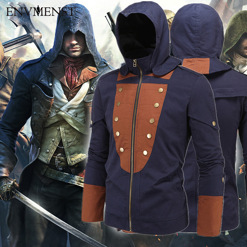 Envmenst brand fashion hoodies Assassin's Creed game jacket hooded Arnold casual reflective windbreaker mans jacket 5XL