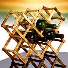 8 Grids Classic Wooden Design Foldable Wine Holder Europe Style Gift Wine Storage Rack Bottle Holder Free Shipping